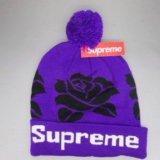 Шапка supreme фиолетовая. Фото 1.