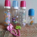 Бутылочки для кормления, соска. Фото 1.