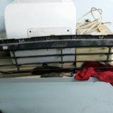 Решетка нижняя переднего бампера hyundai solaris. Фото 2.