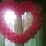 Сердце из шариков. Фото 1. Долгопрудный.