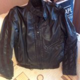 Zara куртка кожаная  italian 46-48 р. Фото 4. Москва.