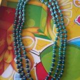 """Ожерелье """"бирюзовая волна"""". Фото 1."""