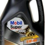 Mobil super 3000 x1 diesel 5w-40, 4 литра. Фото 1. Красноярск.