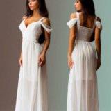 Белое платье в пол. Фото 2.