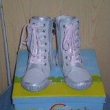 Сапожки для девочки р29, новые. Фото 3.