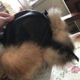 Зимняя шапка из кожи с натуральным мехом. Фото 2.