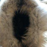 Зимняя шапка из кожи с натуральным мехом. Фото 3.
