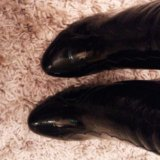Сапоги лаковые кожа. Фото 3.