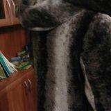 Шуба из мутона с капюшоном из норки. Фото 3.