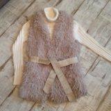 Жилет мех. куртка. свитер. Фото 3.