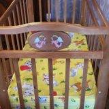Кроватка детская с матрасиком. Фото 1.