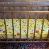 Кроватка детская с матрасиком. Фото 2.