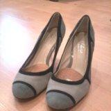 Туфли нубук, замша. Фото 1.