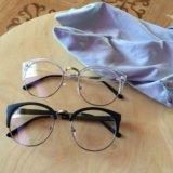 Очки для имиджа новые, очки без диоптрий. Фото 1.