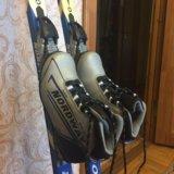 Лыжи, крепления, ботинки, палки. Фото 1. Пущино.