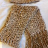 Комплект: шапка и шарф. Фото 1. Москва.