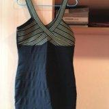 Платье новое, плотный стретч,  бретельки супер р-м. Фото 2.