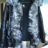 Куртка кожаная с чернобуркой. Фото 1. Екатеринбург.