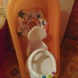 Горка, ванна, стульчик, круг в подарок. Фото 1.