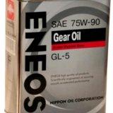 Масло трансмиссионное eneos gear oil gl-5 75w90, 4. Фото 1.