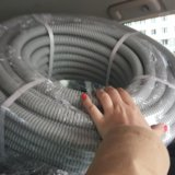 Труба гофрированая строительная пвх. Фото 2.