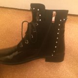 Ботинки осенние, чёрные. Фото 2.