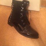 Ботинки осенние, чёрные. Фото 3.