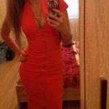 Оранжевое платье. Фото 3.