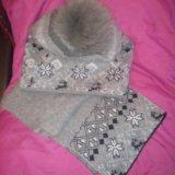 Комплект шапка+шарф. Фото 2.