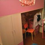 Кровать-чердак с лестницей в виде полок. Фото 4. Балашиха.