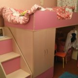 Кровать-чердак с лестницей в виде полок. Фото 3. Балашиха.