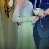 Свадебное платье ( одевала на регистрацию) торг. Фото 2.