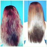 Кератирование ламинирование волос долгопрудный. Фото 1.
