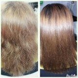 Кератирование ламинирование волос долгопрудный. Фото 3.
