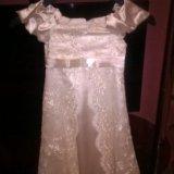 Нарядное платье на 5-7 лет. Фото 1.
