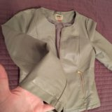 Курточка серая кожзам only. Фото 2. Чехов.