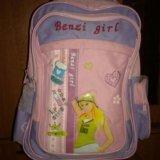 Рюкзак для девочки на колёсах и выдвигающейся ручк. Фото 1.