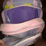 Рюкзак для девочки на колёсах и выдвигающейся ручк. Фото 2.