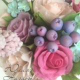 Букет цветов из холодного фарфора🌸. Фото 2.