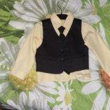 Костюм тройка с рубашкой и галстуком. Фото 3. Северская.