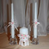 Свадебные свечи. Фото 1.