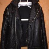 Кожаная куртка косуха жилетка. Фото 3. Москва.