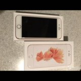 Iphone 6s 128gb rose gold (плюс 2 чехла apple). Фото 1.