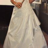 Платье свадебное белое р.42-44 s. Фото 1.
