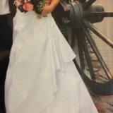 Платье свадебное белое р.42-44 s. Фото 2.