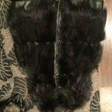 Жилетка из чернобурку с кожей. Фото 3.