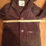 Вельветовый пиджак на 120 рост. Фото 4.