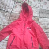 Куртка двусторонняя. размер 98-104. Фото 1.