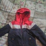 Куртка двусторонняя. размер 98-104. Фото 2.