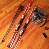Детские горные лыжи volki. Фото 1.